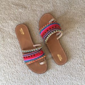 Fun colorful sandals.
